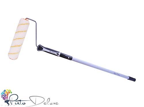 Profi und Qualitäts Farbrolle/Farbroller + Teleskopstab 75-125 cm + Best Grip Bügel inkl. E-Book