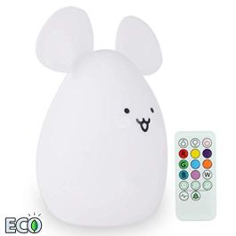 ATOMFIT LED Nursery Night Lights for Kids: Cute Animal Silicone Baby Night Light with Touch Sensor and Remote – Portable and Rechargeable Infant or Toddler Cool Color Changing Bright