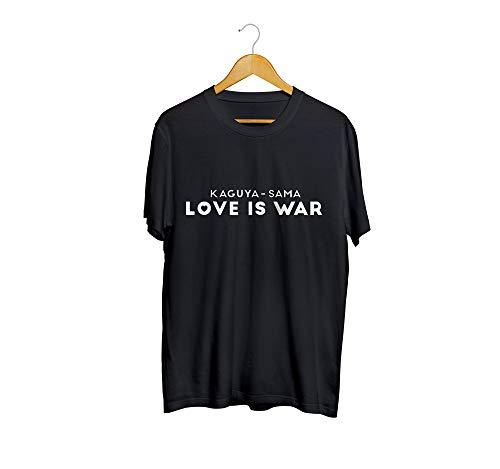 Camiseta camisa kaguya sama love is war anime masculino preto tamanho:g