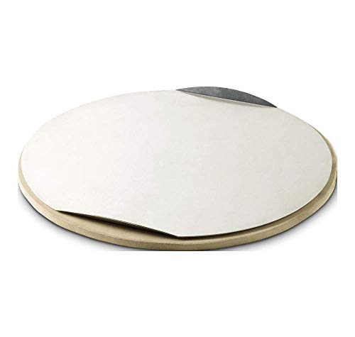 Weber Original Round Pizza Stone with Baking Tray (26 cm, Brown)