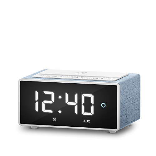 Energy Sistem Smart Speaker Wake Up (Alexa, 10W, Qi Charger, Wi-Fi, Bluetooth, Line-in, Spotify/Airplay)