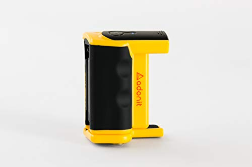 Adonit-Photogrip-Easy-Pack-Stabilizer-Hand-Grip-Phone-Holder-with-Bluetooth-Remote-Shutter-Compatible-for-iPhone-11-11-Pro-Xs-Max-XR-X-8-Samsung-s109-Yellow
