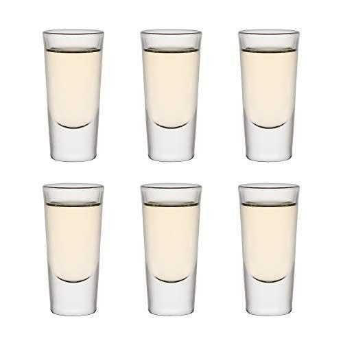 Libbey Shotglas Tequila Shooter - Set di 6 bicchieri da shot, 30 ml / 3 cl, ideali per giochi di bevande, lavabili in lavastoviglie