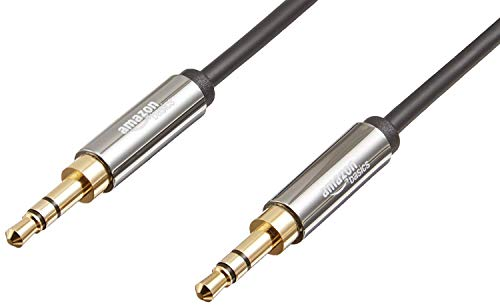 AmazonBasics 3.5 mm Male to Male Stereo Audio Aux Cable, 4 Feet, 1.2 Meters, 2-Pack