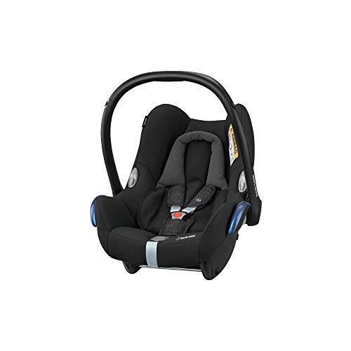 Maxi-Cosi CabrioFix Babyschale, Baby-Autositze Gruppe 0+ (0-13 kg), nutzbar bis ca. 12 Monate, passend für FamilyFix-Isofix Basisstation, nomad black