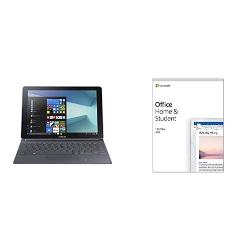 Samsung Galaxy Book 12-Inch LTE Pro Tablet - (Silver) (Intel Core i5-7200U, 8 GB RAM, 256 GB SSD, Windows 10 Pro) + Microsoft Office Home & Student 2019