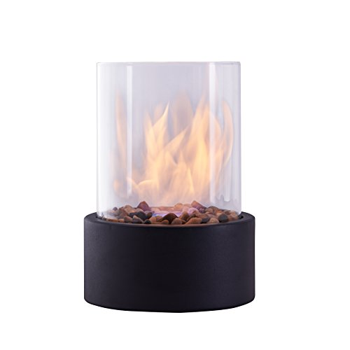 Danya B. Indoor / Outdoor Portable Tabletop Fire Pit Clean-Burning Bio Ethanol Ventless Fireplace - Small