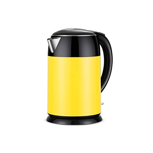 Kessel DBL Haushalt Edelstahl Wasserkocher Hohe Kapazität Wohnzimmer Küche Schlafzimmer Büro Studie gelb 2L