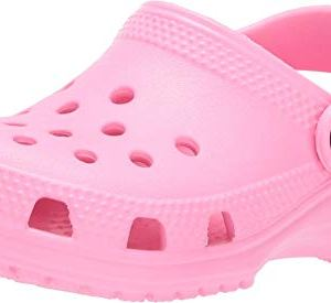 Crocs Kids' Classic Clog, Pink Lemonade, 9 M US Toddler