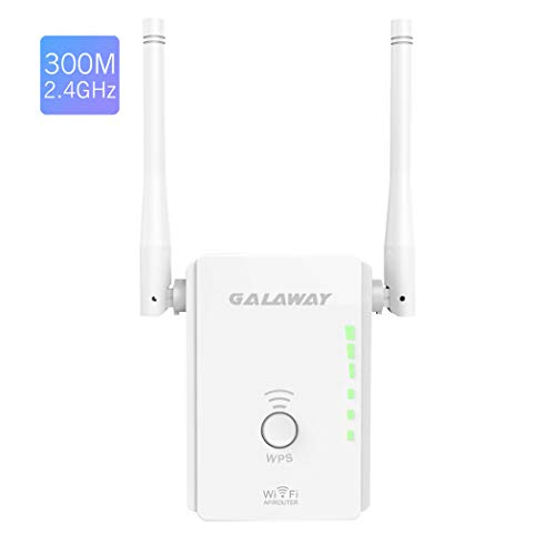 WiFi Range Extender, GALAWAY 300Mbps WiFi Repeater External Antennas Signal Amplifier Booster 360 Degree WiFi Coverage