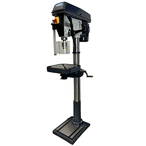 Trapano a colonna professionale orientabile e inclinabile ad alta precisione con trasmissione a cinghia capacit 32mm velocit regolabile 230v/1Ph - echoENG