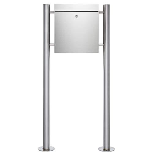 Edelstahl Standbriefkasten Großraumbriefkasten Big Boy - Edelstahl Standelemente 60,3mm