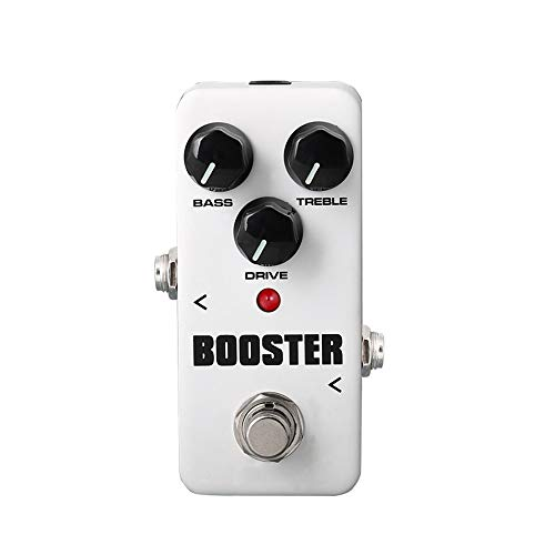 Vaxiuja Mini Bass Compressor Mini Single Effect Pedal Booster Effect With True Bypass For Electric Guitar (Color : Silver, Size : Free size)