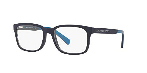 AX Armani Exchange Men's Ax3029 Square Prescription Eyewear Frames