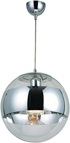Design Hänge Leuchte Glas Schirm Kugel Esszimmer Chrom Pendel Decken Lampe Globo 15812