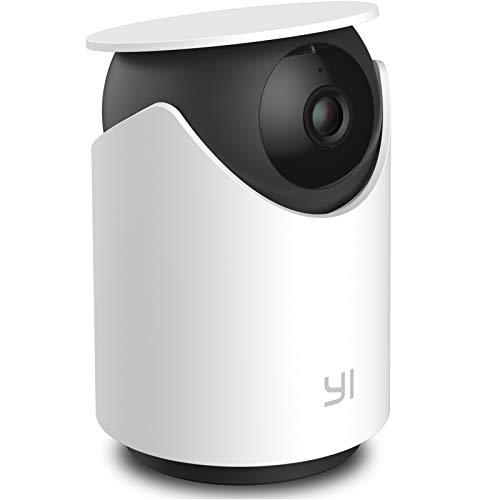 Telecamera Interno WIFI,YI Dome U Videocamera Sorveglianza per Sicurezza Rilevamento Sonoro/Umano/Movimento con Intelligenza Artificiale,Audio Bidirezionale,Compatibile con Alexa