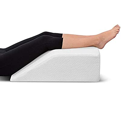 REST YOUR LEGS — Relieve swelling, reduce edema, attain spine & coccyx alignment, improve blood circulation, and support your ligaments & muscles while you sleep with EBUNG leg elevation pillow — AT HOME LEG THERAPY with our elevating leg rest pillow...