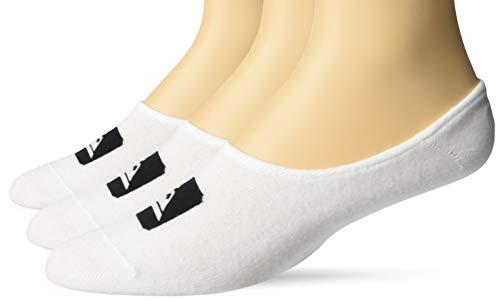 Quiksilver - Calzini da uomo 3Linerpack No Show O/S, colore: Bianco