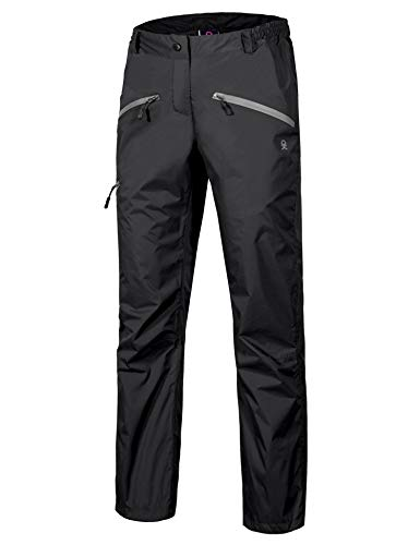 Little Donkey Andy Womens Lightweight Waterproof Breathable Rain Pant Black Size M