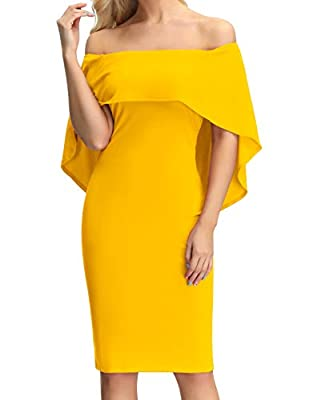 SIZE ATTENTION: Size Run Small than normal, better one size Up. Size S fit like us 2-4; Size M fit like us 4-6; Size L fit like us 8-10; Size XL fit like us 14; Size 2XL fit like us 16-18; Size 3XL fit like us 20 Elegant cape bodycon dress mixes a fl...