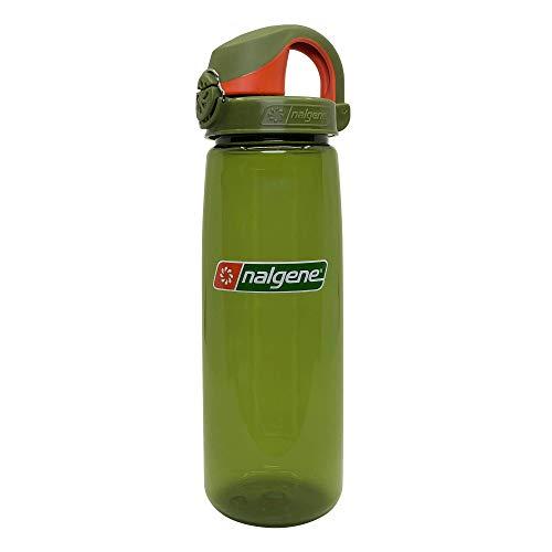 Nalgene On the Fly BPA-Free Water Bottle, Juniper w Juniper/Orange, 24 oz