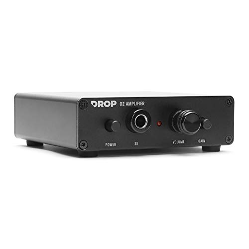Drop Objective 2 Headphone Amp: Desktop Edition (Standard), Black, Standard Gain (2.5 Low, 6.5 High)