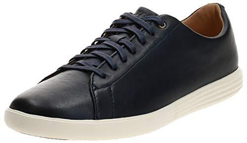 Cole Haan Men's Grand Crosscourt II Sneakers, Navy Leather Brnsh,...