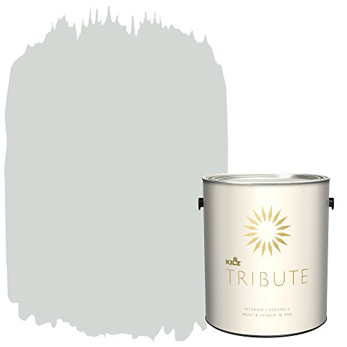 KILZ TRIBUTE Interior Eggshell Paint and Primer in One, 1 Gallon, Cool Fog (TB-61)