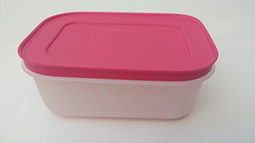 Tupperware Contenitore freezer congelare arancione fucsia contenitore con coperchio ermetico...