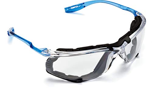 3M  11872-00000-20 Safety Glasses, Virtua CCS Protective Eyewear 11872, Removable Foam Gasket, Clear Anti-Fog Lenses, Corded Ear Plug Control System