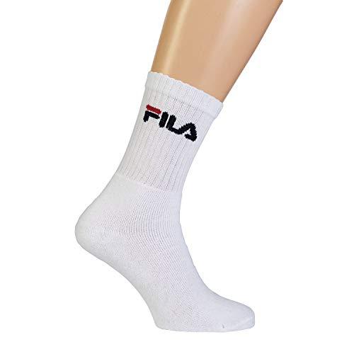 Fila F9505, Calze Unisex, Bianco, 39/42, pacco da 3