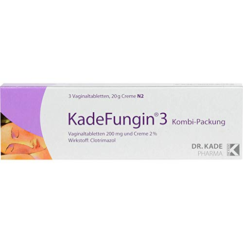 KadeFungin 3 Kombi-Packung Vaginaltabletten und Creme, 1 St. Kombipackung