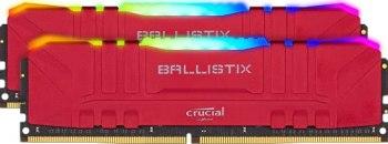 Crucial Ballistix BL2K8G36C16U4RL RGB, 3600 MHz, DDR4, DRAM, Mémoire Kit pour PC de Gamer, 16Go (8Go x2), CL16, Rouge