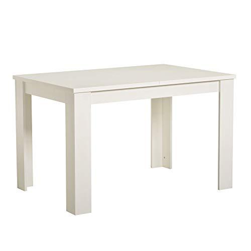 Tavolo da Pranzo 120x80 - Jeri, Bianco opaco
