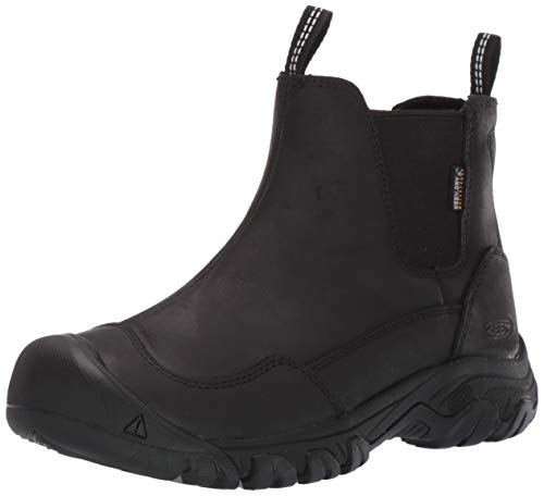 KEEN Women's Hoodoo III Chelsea WP Boot, Black/Black, 8.5 M US