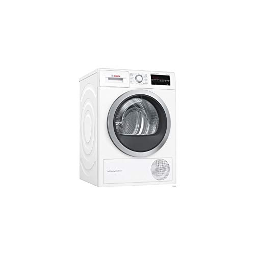 Bosch Serie 6 WTW87499FF sèche-linge Autonome Charge avant Blanc 9 kg A - Sèche-linge Pompe à chaleur, Blanc, Panier à laine, kit tuyau de vidange fourni
