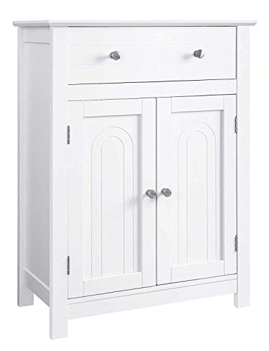 VASAGLE Free Standing Bathroom Drawer and Adjustable Shelf, Kitchen Cupboard, Wooden Entryway Storage Cabinet, 23.6...