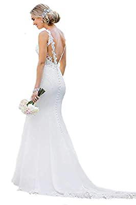 ★Features:Mermaid/Trumpet, Court Train, Zipper with Botton, Sleeveless,Natural Waist, Fully Lined, Built-in Bras. ★Normally,our handling time is 3-5 days and shipment normally takes 7-14 days for standard shipping. ★Please Select the Size According t...