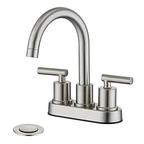 HOMELODY Bathroom Faucet, Brushed Nickel Bathroom Faucet, 4...