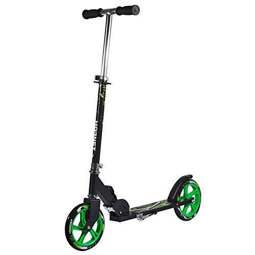 Hornet 14929 - Scooter Roller GS 200, Tret-Roller Big Wheel, neon-grün