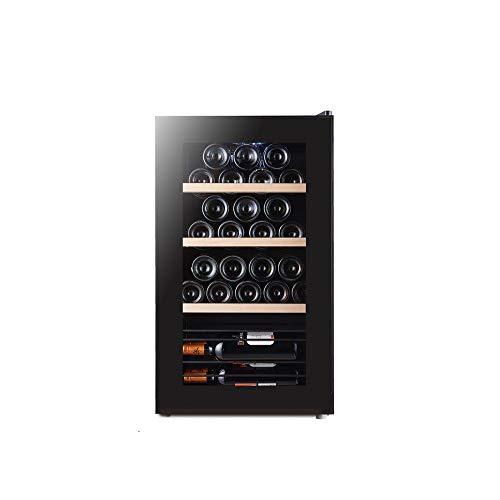 Raffreddatore di vino 32 bottiglie,Cantinetta per vini touch screen a LED, frigorifero per vino...