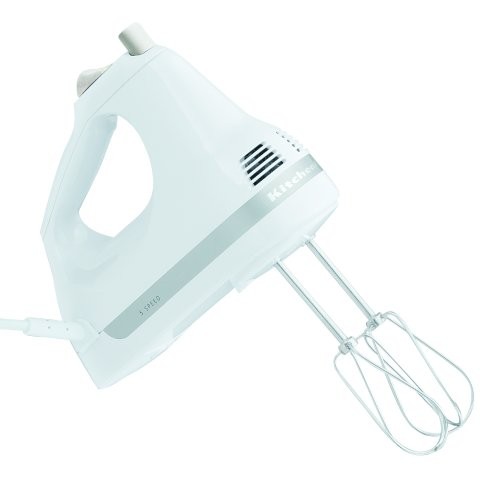 KitchenAid KHM5APWH White 5-Speed Ultra Power Hand Mixer