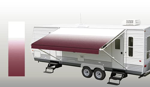 SunWave Awning Fabric Burgundy Fade 18'(approximate Fabric Width...