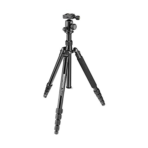 Manfrotto Element Traveller Small Aluminum 5-Section Tripod Kit with Ball Head, Black