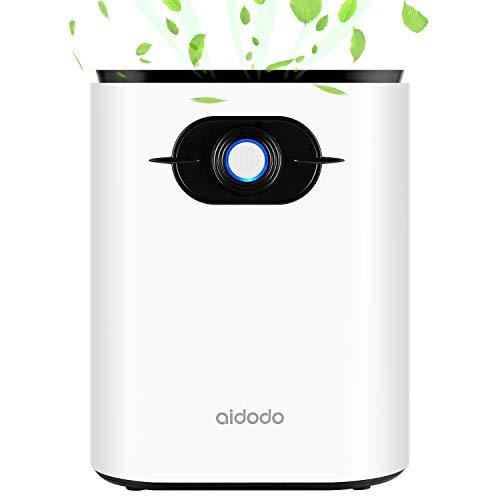 Aidodo Deshumidificador electrico Portátil 1200ml Mini silencioso Deshumidificadores de Aire Compacto Inteligente Hogar Salón Habitación Oficina Blanco