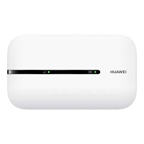 Huawei Mobile Wi-Fi 3s 4G LTE CAT4, Velocità di Download 150 MBps, Batteria Ricaricabile da 1500 mAh, Nessuna Configurazione Necessaria, Wi-Fi Portatile Abilitato, per Viaggio e sul Lavoro, Bianco