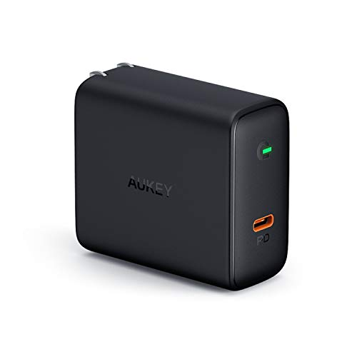 AUKEY USB C Charger 60W with Power Delivery 3.0 & GaN Power Tech, Compatible with MacBook Pro,iPhone Xs/Xs Max/XR,Dell XPS 13, Samsung Galaxy S10 / Note9, Nintendo Switch,and More