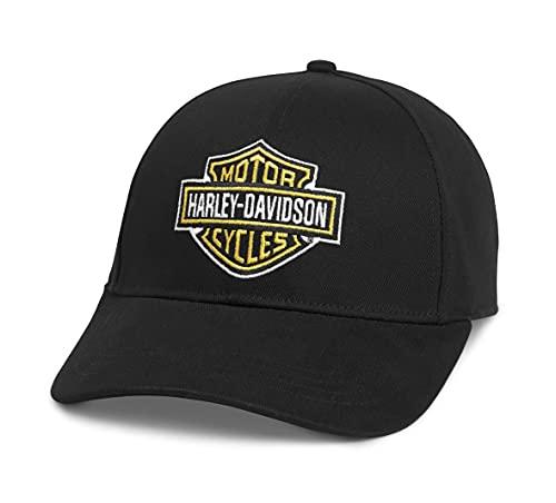 ハーレーダビッドソン バー&シールド ベースボールキャップ ブラック フリーサイズ メンズ キャップ 帽子 刺繍 オールコットン 97684-21VM