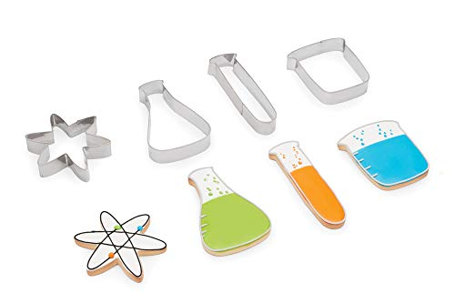 Fox Run Science Cookie Cutters Chemistry Set, 4 Piece, Stainless Steel