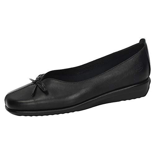 48 HORAS 110401/01 Manoletinas DE Piel Mujer Zapatos MOCASÍN Negro 40